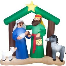 CHRISTMAS  7 FT HOLY  NATIVITY SCENE  AIRBLOWN INFLATABLE YARD DECORATION