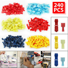 240pcs 22 10 Awg Insulated T Tap Quick Splice Combo Wire Terminal Connectors Kit
