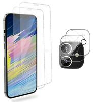 For iPhone 12 Pro Max Full Cover Tempered Glass Camera Lens+ Screen Protector