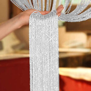 Glitter String Door Curtain Panel Fly Screen Doorways Divider Insect Blinds