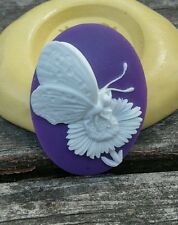Butterfly cameo silicone push mold mould polymer clay resin Wax sugar craft