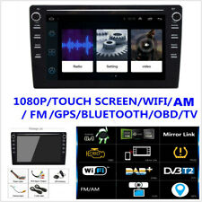 "1Din Adjustable Android8.1 8"" 1080P Touch Screen Car Stereo Radio GPS Nav Player"