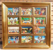 QUADRO LA VITA DI GESÙ miniature oro after CODICE VARIA DE PREDIS 1476 San Paolo
