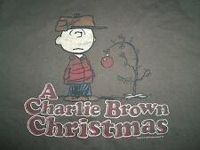"""A Charlie Brown Christmas"" Peanuts Cartoon Brown Graphic Print T Shirt L"