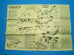 Aurora 1957 NIEUPORT 28 Original Model  Instruction sheet L@@K!