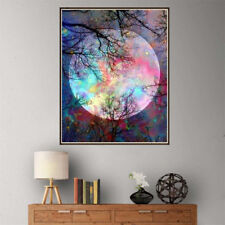 5D DIY Diamond Painting Forest Tree Color Moon Diamond Painting Cross Stitch FBU