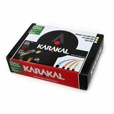 Karakal Yellow Dot Super Slow Tournament Black Rubber Squash Balls - Box of 12