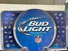 Budweiser Bud Light Huge Metal Embossed NFL Beer Sign