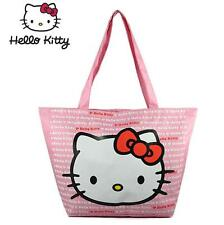 New Cute Hello Kitty Women Girls School Bag Handbag Shopping Bag Pink