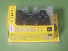 Official Sony Playstation 2 PS2 Black DualShock 2 Controller *NEW & SEALED*