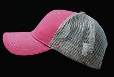 Plain Baseball Cap Mesh Hat Trucker Sports Hats Unisex Vintage Faded Solid Caps