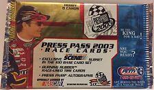 Press Pass 2003 NASCAR Race Cards Packs