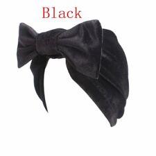 Lady Head Wrap Beanie Cap Chemo Turban Big Bow Hijab Velvet Bonnet Hat