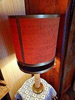 lampe d'ambiance vintage en aluminium chromé tissu imitation liège années 1970