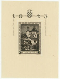 CROATIA #B40 S-type Semi Postal Souvenir Sheet WWII 1943 Mint NH OG