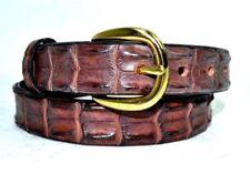 SAVANNAH Brown Genuine CROCODALE Leather Men's Belt SIZE 28 / 71  AUSTRALIA