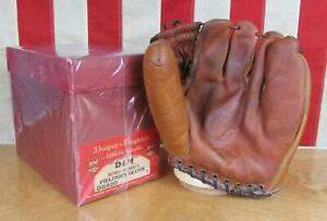 Vintage 1950s Draper Maynard Leather Baseball Glove HOF Robin Roberts w/Orig.Box