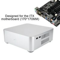 Mini-ITX Case Ultra-Slim Desktop Computer HTPC Case PC Chassis With 2*USB Port
