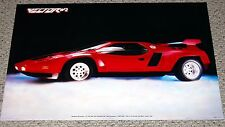 VECTOR W-2 Prototype Concept Car 1980's Photo Poster Masterson Western Graphics