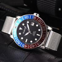42mm Parnis Schwarz dial 21 jewels Miyota Automatisch movement Uhr men's Watch