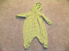 Old Navy Infant GirlsGreen Flower Yellow Orange Flower One Piece Outfit 6 12 mon