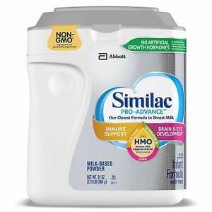Similac Pro Advance Non-GMO HMO Infant Formula with Iron Powder 34oz EXP 03/2023