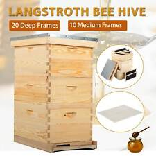Honey Keeper L20 Beehive 20 Frame Complete Box Kit with Metal Roof