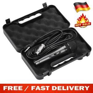Dynamisches Metall Mikrofon Microphone + Koffer Case + 5m 3PIN XLR 6,35mm Kabel