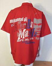 Mens Platinum Fubu Muhammad Ali Thrilla in Manila Shirt (XXL) Red C3683