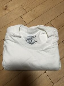 4pc Fruit Of The Loom Tagless White Youth Sz L 10 12 Short Sleeve Tee T Shirts