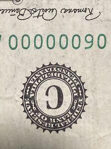 Fancy Serial Number 1 Dollar Bill 7 OF A KIND Seven 0s 1969 $1 Binary# 06000000!