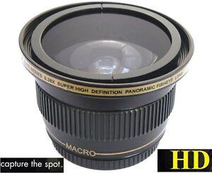 Super Wide NEW Hi Definition Fisheye Lens For Panasonic LUMIX DC-FZ80
