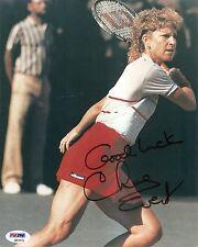 Chris Evert HOF Tennis Signed Auto 8x10 PHOTO PSA/DNA COA