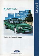 FORD ESCORT MK6 CABRIOLET BROCHURE 1995 CALYPSO