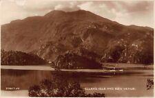 Vtg RPPC POSTCARD ELLEN'S ISLE BEN VENUE BOAT SHIP LOCH SCOTLAND Antique Photo