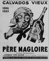 PUBLICITÉ DE PRESSE 1929 CALVADOS VIEUX PÈRE MAGLOIRE - ORBEC EN AUGE