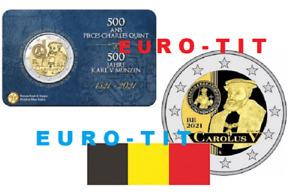 BELGIQUE  CAROLUS  V   FRANCE     2 EURO  2021    COINCARD  NOUVEAU   prévente