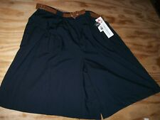 Cristin Stevens Rear Elasticized Waist Pull On Casual Shorts SZ Medium/Black/NWT