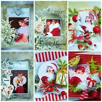 Art Deco Christmas Glossy Finish Card Making Topper - Crafts
