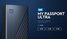 "Western Digital WD My Passport Ultra Gen4 4Tb 2.5"" USB3.0 TypeC MS Window / Blue"
