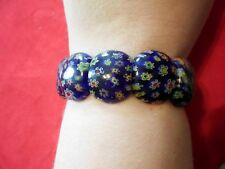 Murano Glass Millefiori Beaded Bracelet-7 inches (Stretchable)