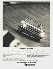 "1965 Dodge Coronet vintage ad - ""Animal Tamer"" original"