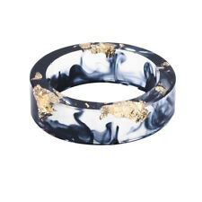 Flower Hand-dried Ring Blue Sea Resin Dried Flower Transparent Band Rings Gifts