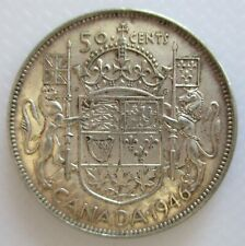 1946 CANADA 50¢ KING GEORGE VI FIFTY CENT .800 SILVER HALF DOLLAR COIN