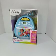 Disney Princesses Bluetooth MP3 Karaoke Machine w/ LED Light Show 16 hrs. Music