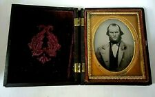 9th.P.Full Hard Case Ambrotype Civil War Southern Soldier Photo Soldier.
