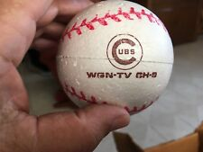 1960's CHICAGO CUBS WGN-TV CH-9 SCHLITZ BEER STYROFOAM BASEBALL & WIRE HOLDER