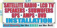 SATELLITE RADIO LCD TV SPEAKER SUB GPS DVD AMPS INSTALLATION Banner Sign