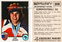 "ULTRA RARE !! Vignette HEIDEN Sticker n°358 ""SPORT SUPERSTARS 82"" PANINI"