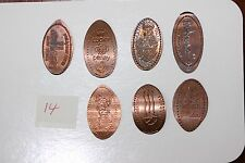LOT OF 7 ELONGATED PRESSED PENNIES COINS LOT 14  (3172415H14)